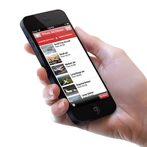 iPhone app for private jet charter prices