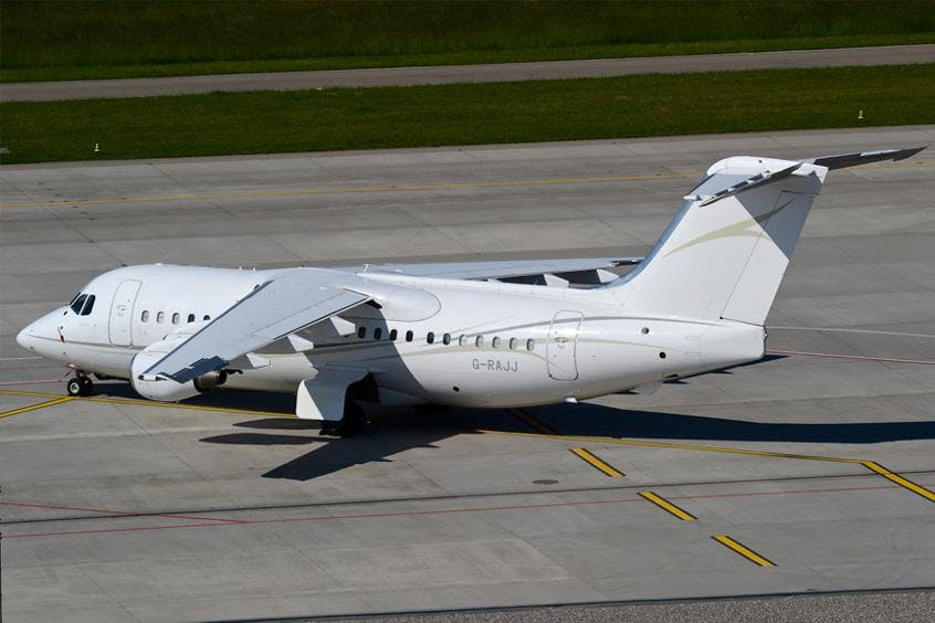 Avro-Business-Jet-PrivateFly-AA9571