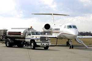 Fuel Shot of a private jet