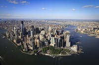 view of New York from the sky