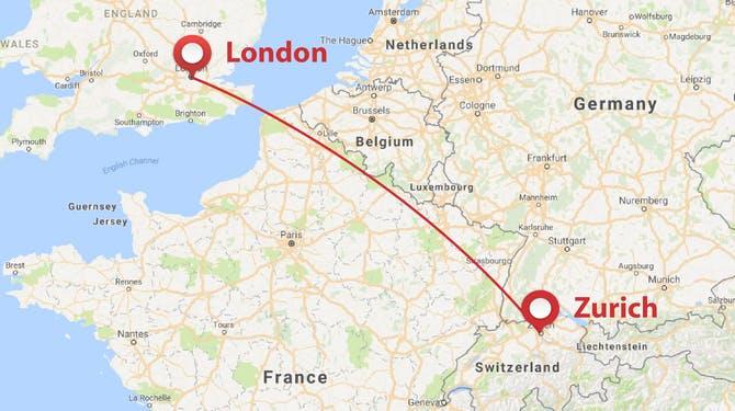 London to Zurich