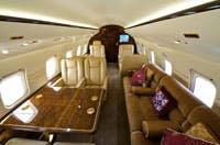 onboard a private jet