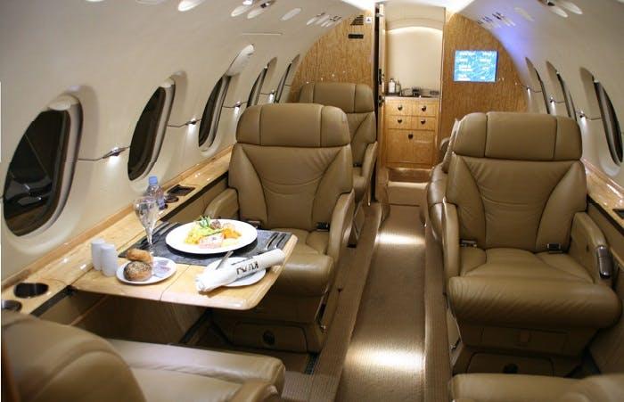 Hawker 800 interior