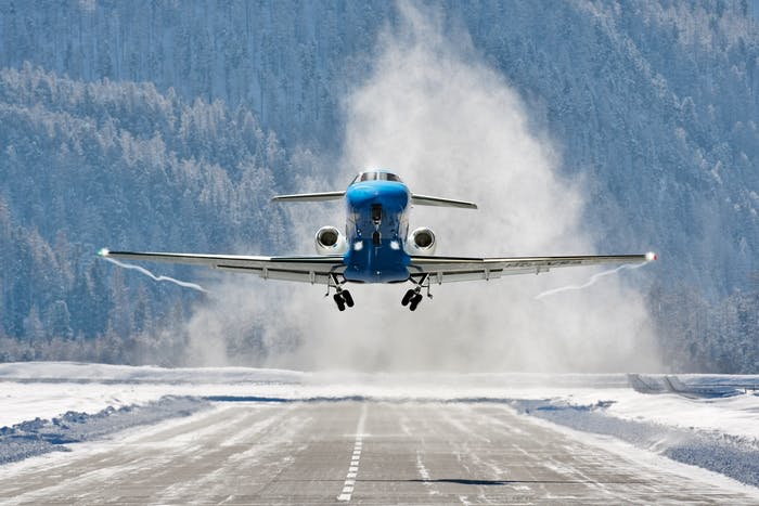 de-icing private jets
