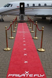Film awards by private jet