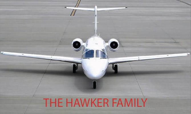 charter a hawker private jet