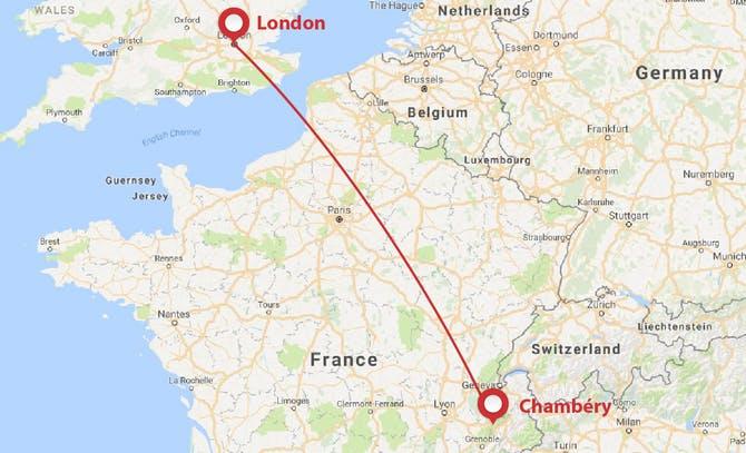 London to Chambery