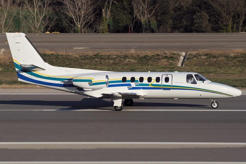 Cessna-C550-Citation-II-IISP-S-PrivateFly-AB1081