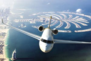 London to Dubai private flight