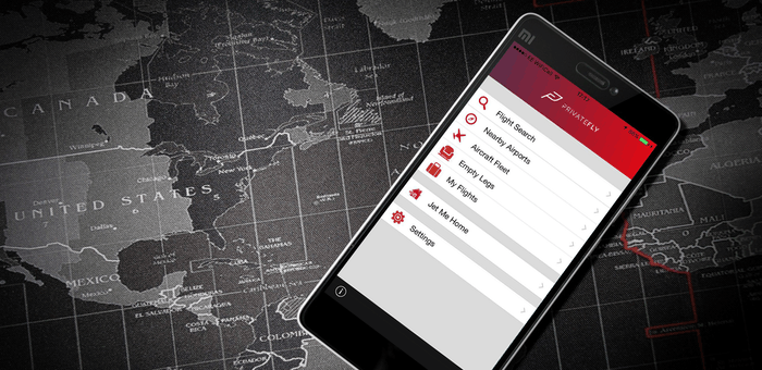 Mobile app PrivateFly