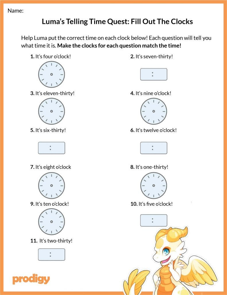 Telling time worksheets: 20 effective practice materials ...