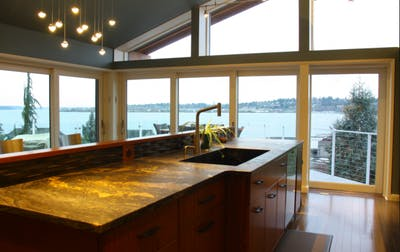 Kirkland kitchen island with view