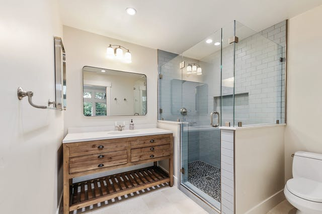 Portola Valley Addition - Master bathroom
