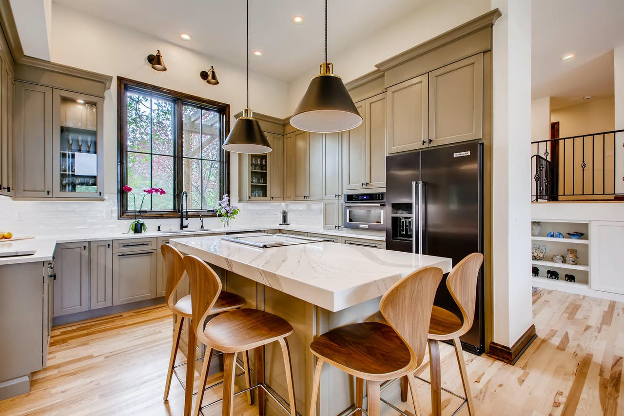 Greenwood Village kitchen remodel with center island