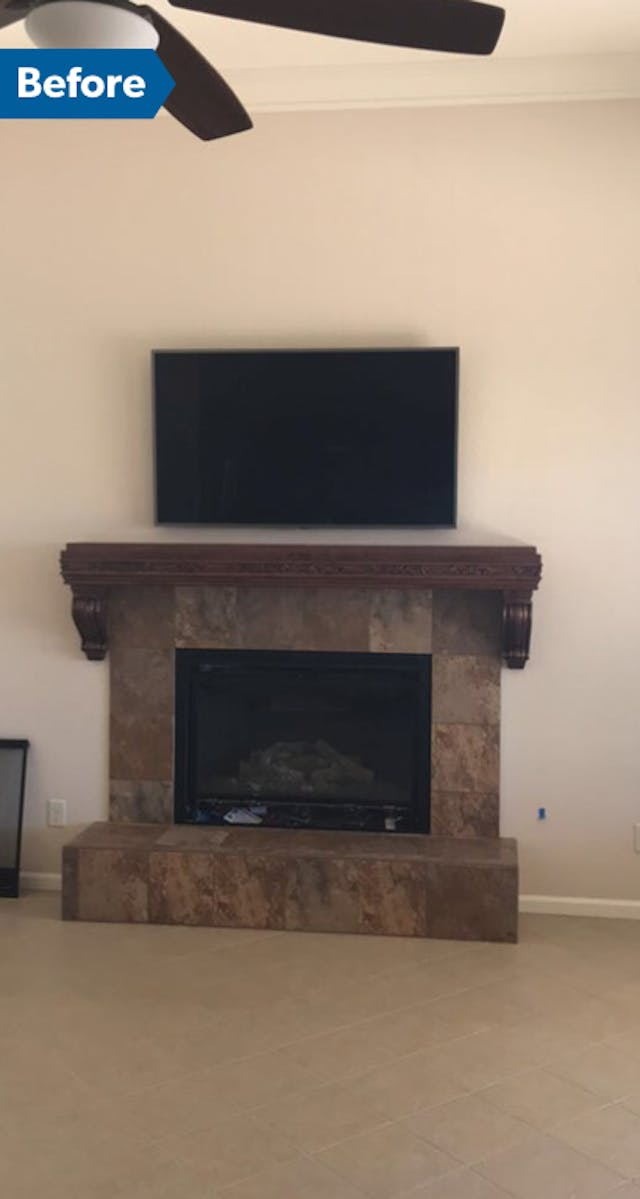 Before - Goodyear fireplace updates
