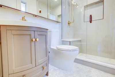 Hampden South gold bathroom flooring