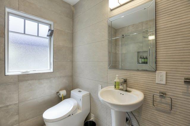 Burlingame addition guest bathroom