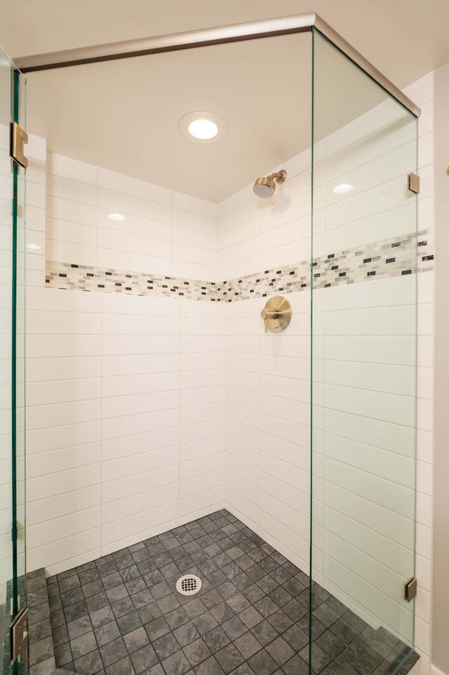 Greenwood Village basement remodel - bathroom shower