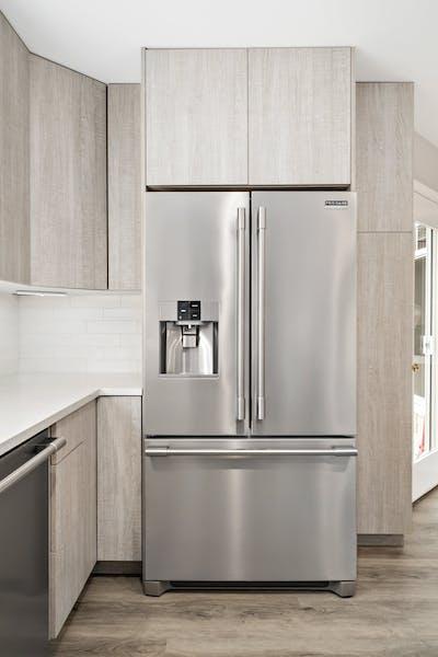 Edmonds townhouse kitchen remodel refrigerator