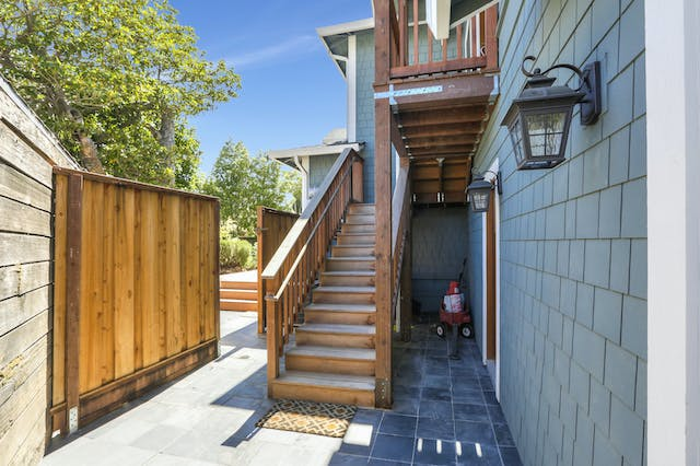 Burlingame addition exterior stairs