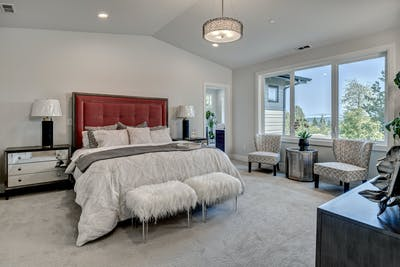 Mercer Island new construction master bedroom