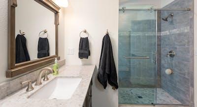 Fall City bathroom addition shower