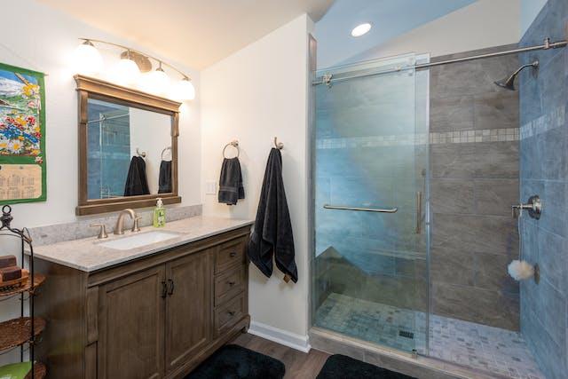 Fall City addition bathroom