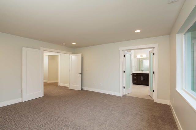 South Rose Hill New Home Construction – Master bedroom
