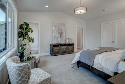 Mercer Island new construction master bedroom suite
