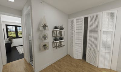 3D Lake City Basement Remodel Closets
