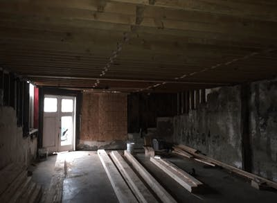 Sunnyside home remodel ADU during construction