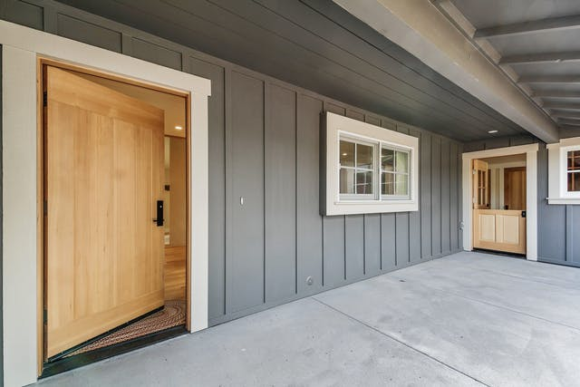 Portola Valley Addition - Front entrance