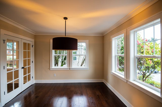 Seattle addition - dining room and french doors