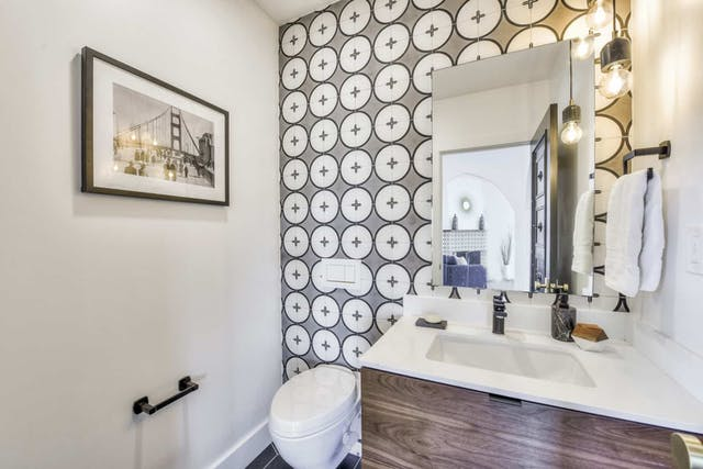 Sunnyside home remodel powder room