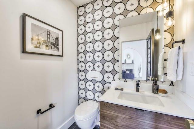 Sunnyside home remodel powder room