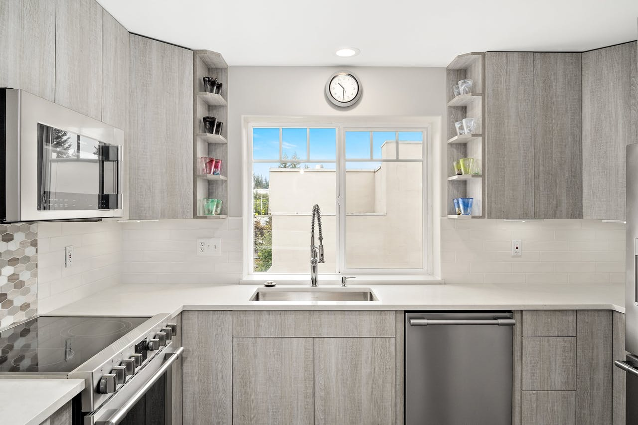 Edmonds townhome kitchen remodel window
