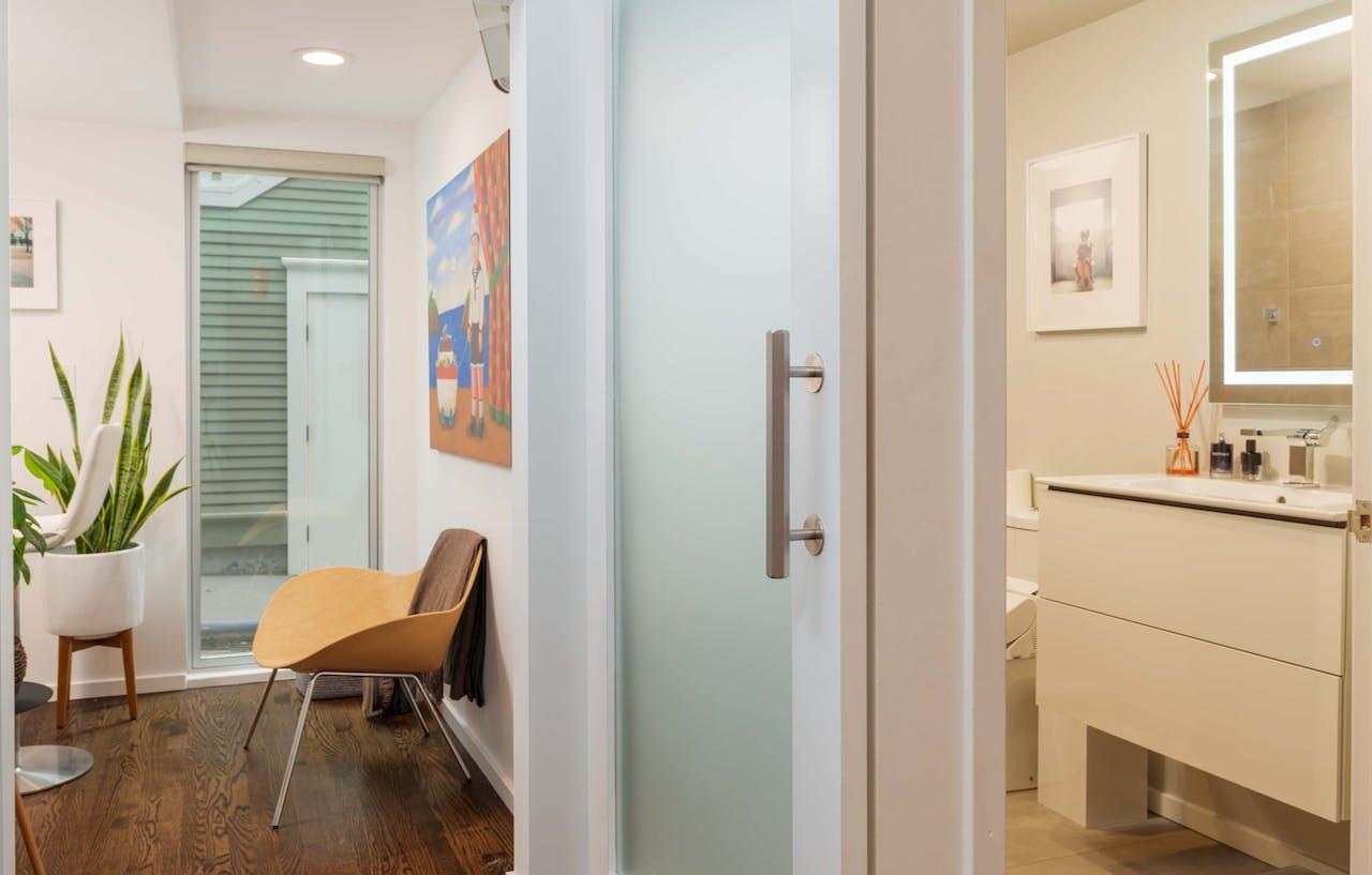 Queen Anne Bathroom Door