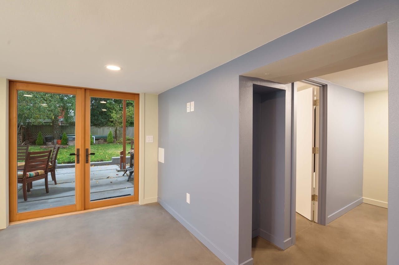 Greenwood Village basement remodel - french doors