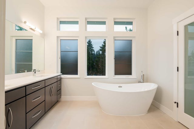 South Rose Hill New Home Construction – Master bathroom