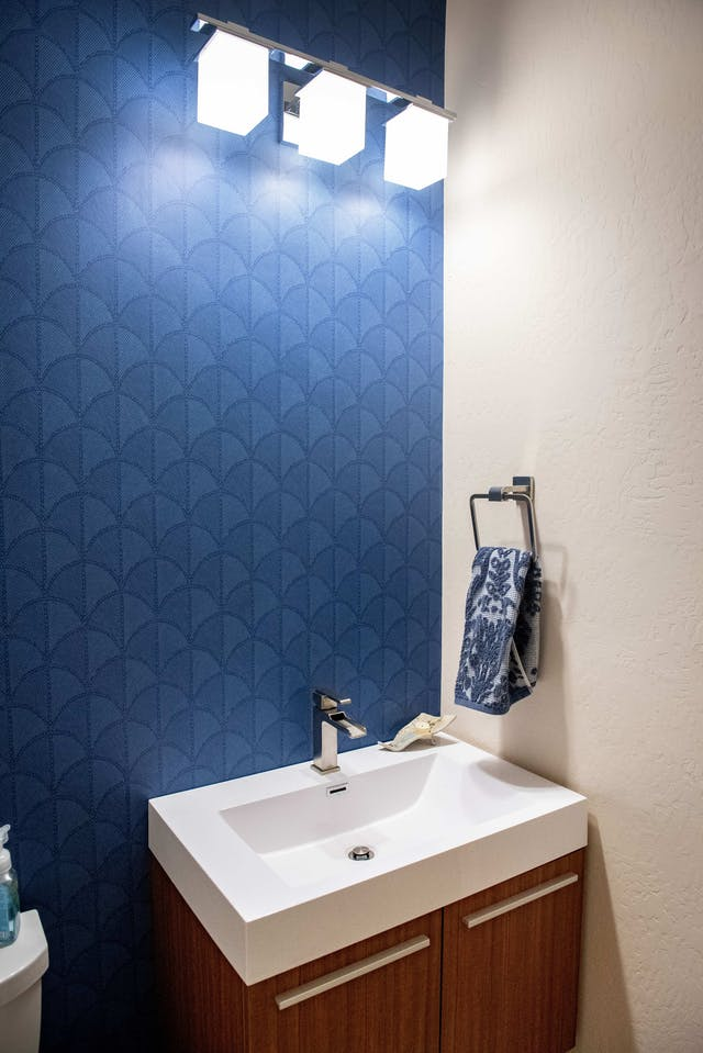 After - Goodyear powder room remodel