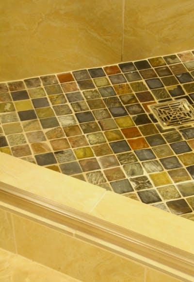 Medina new construction shower tile