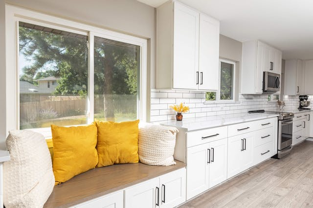 Goldsmith kitchen remodel bench seating