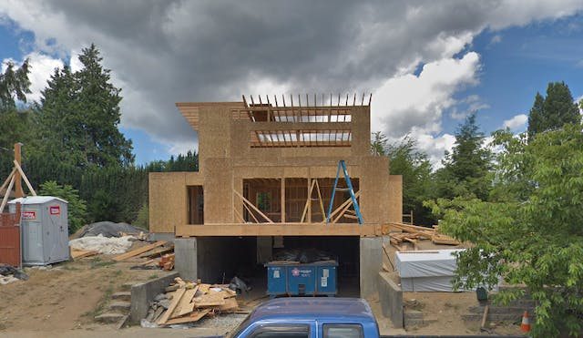 Ravenna home during construction