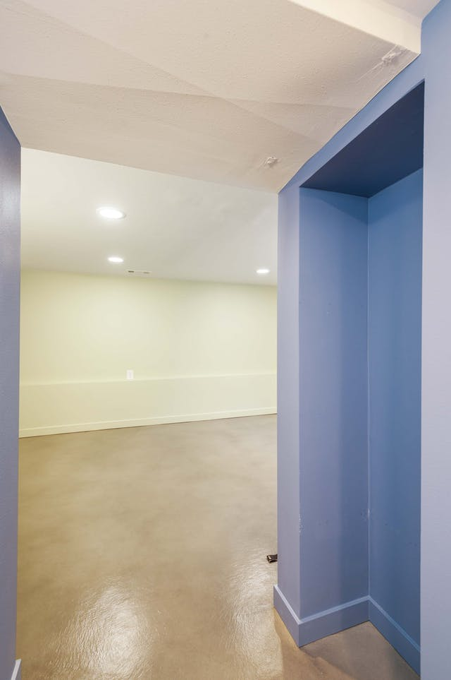 Greenwood Village basement remodel - polished concrete