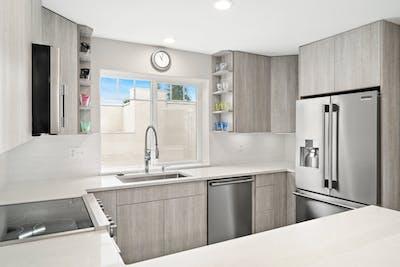 Edmonds townhome kitchen remodel U-shaped