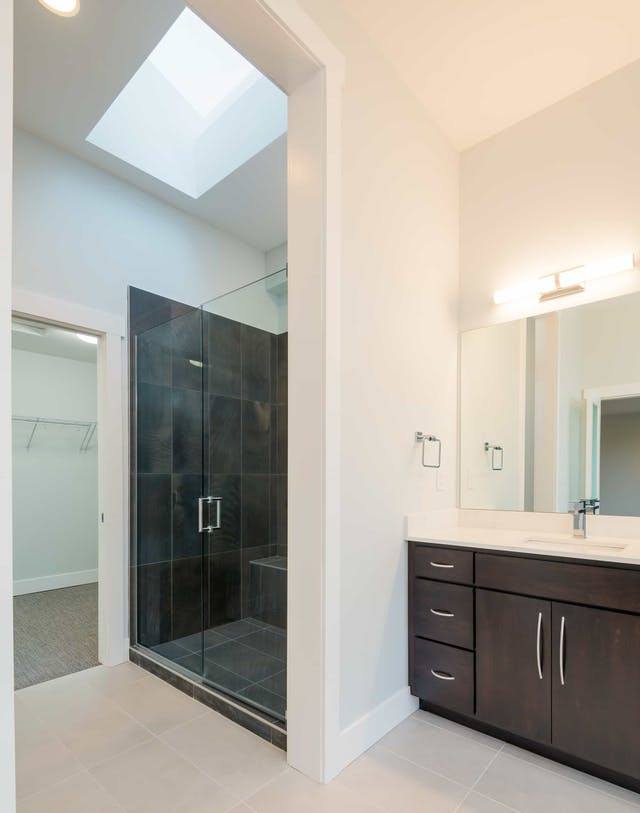 South Rose Hill New Home Construction – Walk-in shower