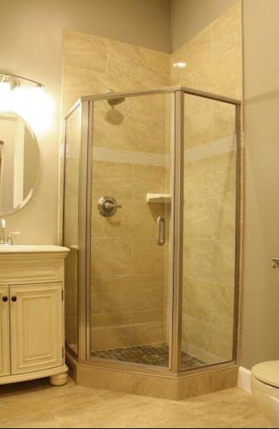 Medina new construction shower