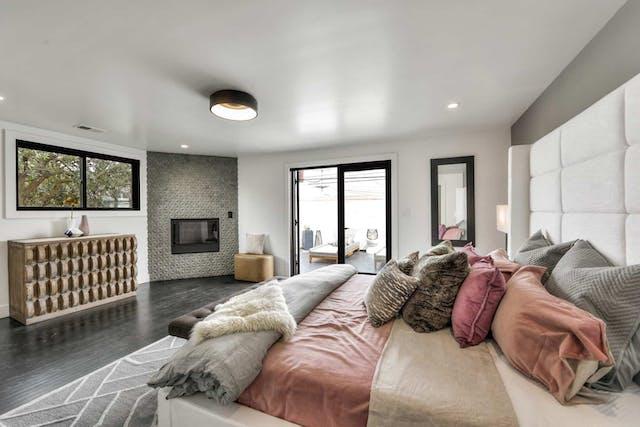 Sunnyside home remodel master bedroom door