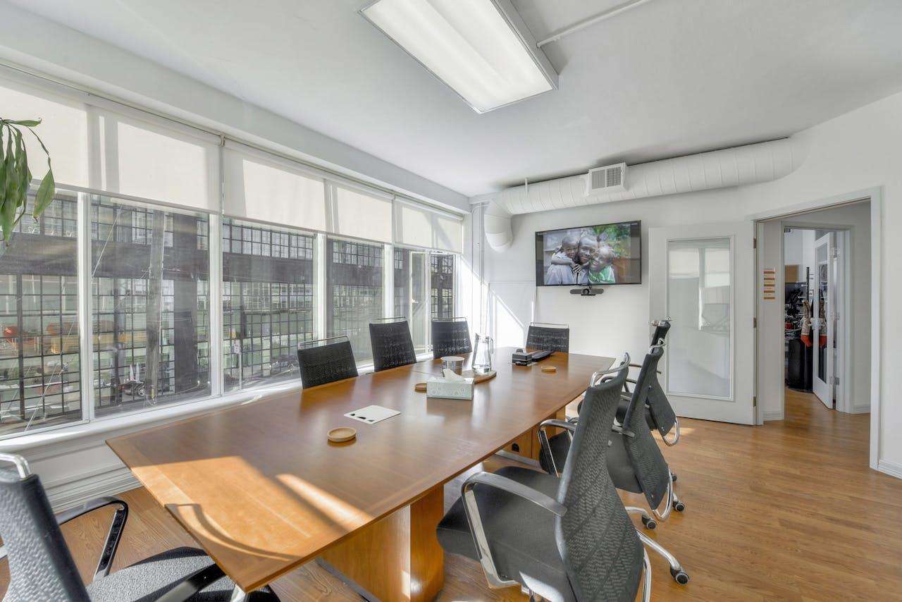 San Francisco office board room windows
