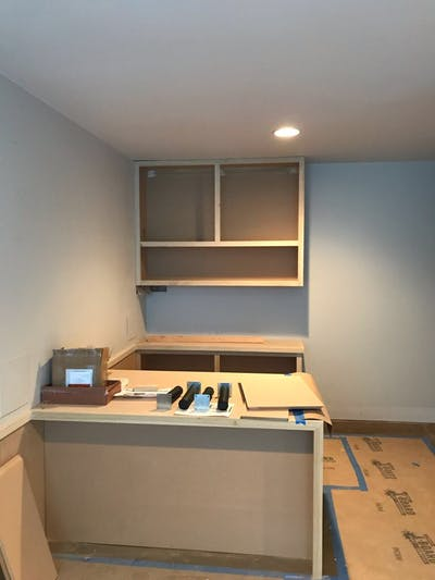 Denver Retail Store Remodel - building the desk